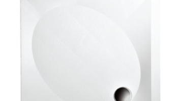 Paa Dušialus ART 80x80 valge läikiv