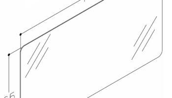 UUS! RB -Raguvos Baldai ECO peegel Luna 120x65